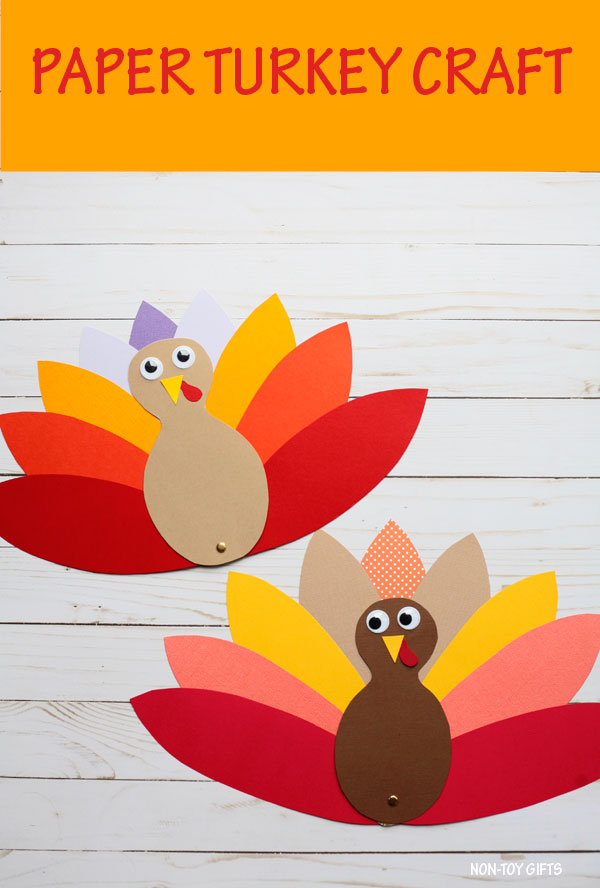 Easy turkey craft for kids.