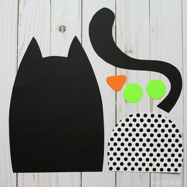 Black cat pattern parts