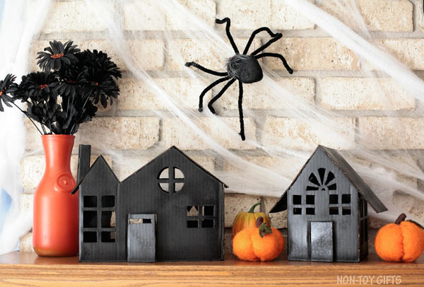 DIY cardboard haunted house illuminaires from boxes @Amazon
