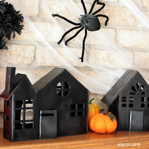 DIY cardboard haunted house illuminaires made from boxes @Amazon