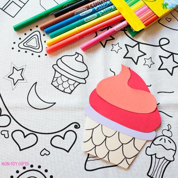 DIY cupcake card for kids to make