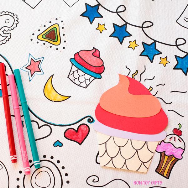 Cupcake card for kids to make