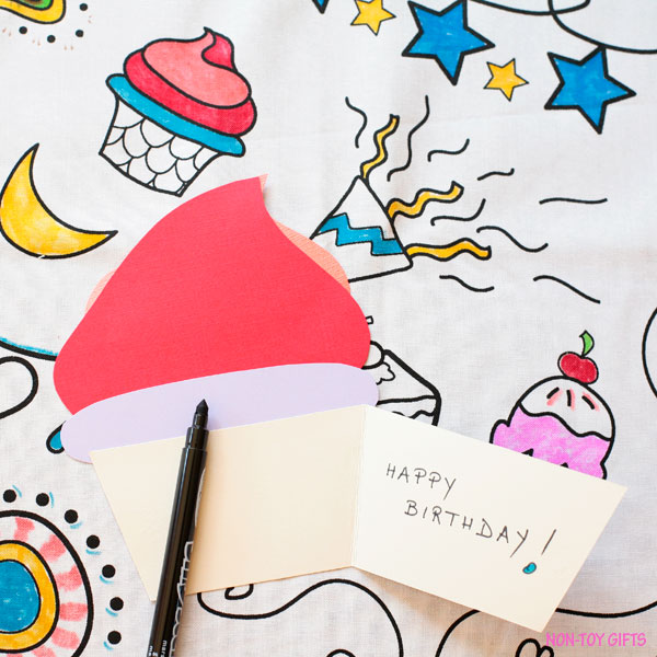 Cupcake card with free template