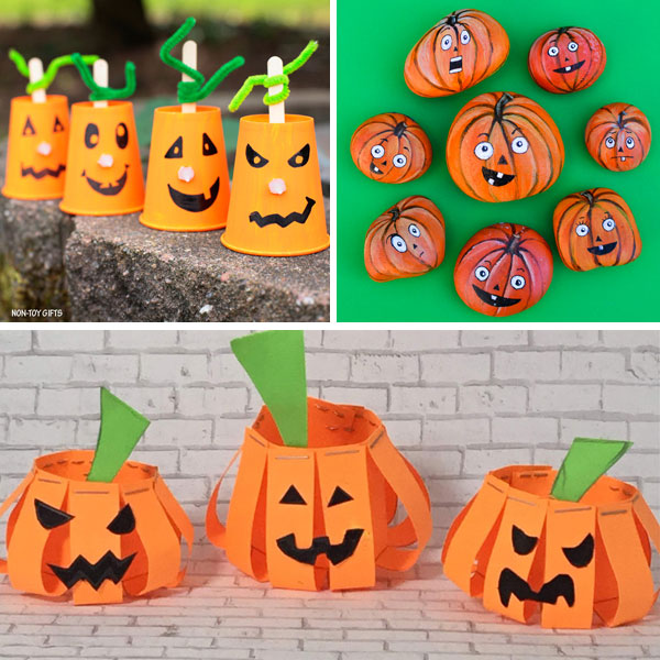 Jack'O'Lantern crafts for kids 1