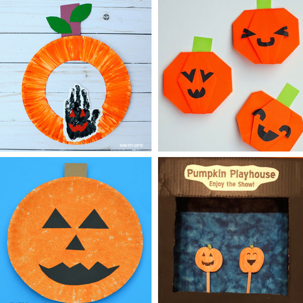 Jack'O'Lantern crafts for kids 3