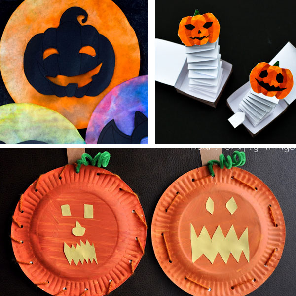 Jack'O'Lantern crafts for kids 4