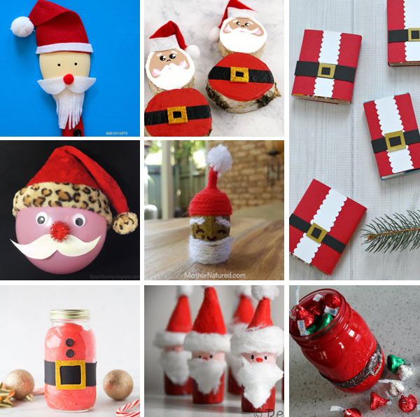 More Santa crafts for kids