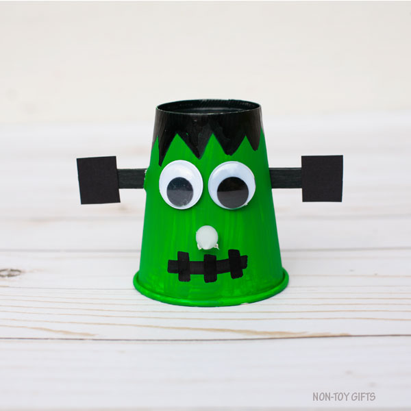 Paper cup Frankenstein craft for kids
