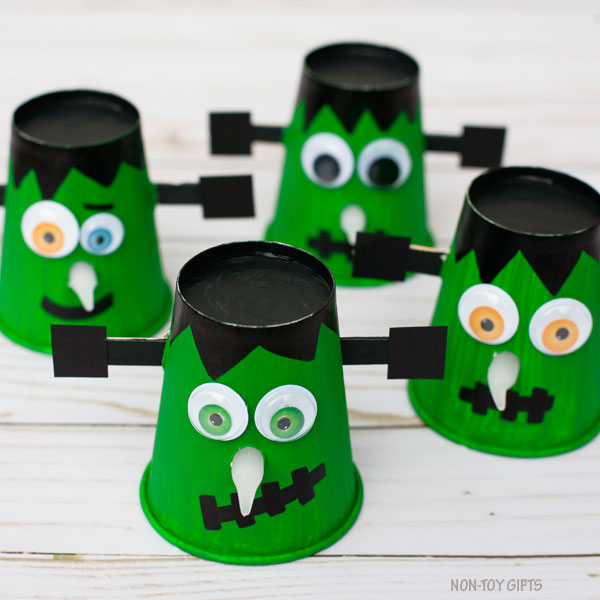 Paper cup Frankenstein - Halloween craft