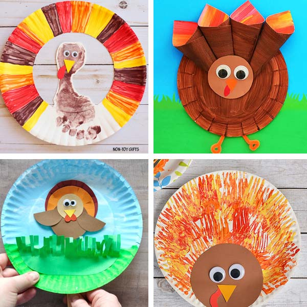 Paper plate Thanksgiving crafts 1
