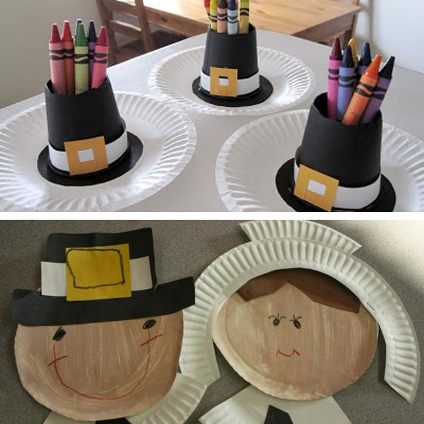 Paper plate Thanksgiving crafts 11