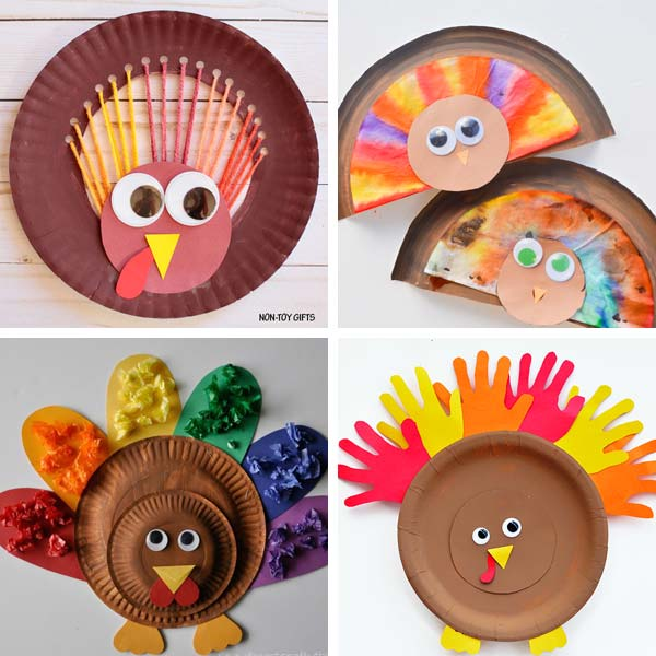 Paper plate Thanksgiving crafts 3
