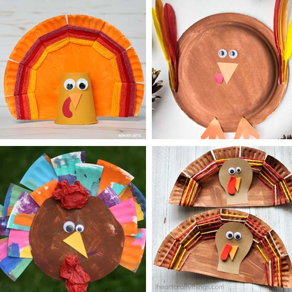 Paper plate Thanksgiving crafts 4