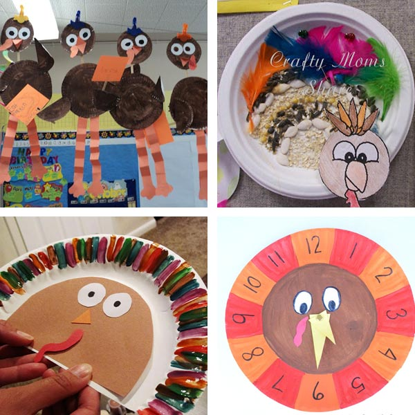 Paper plate Thanksgiving crafts 5