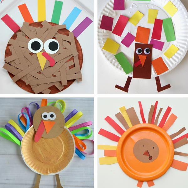 Paper plate Thanksgiving crafts 7