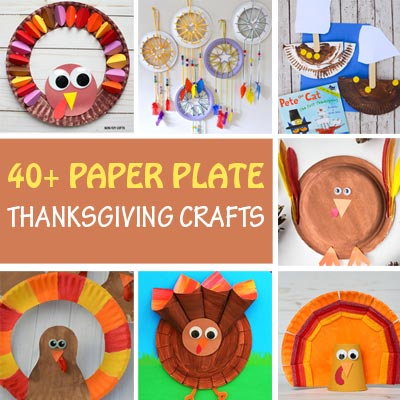 40+ Paper plate Thanksgiving crafts for kids