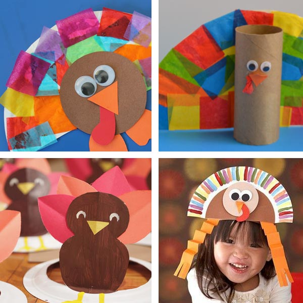 Paper plate Thanksgiving crafts 8