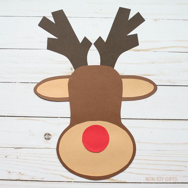 picture relating to Pin the Nose on the Reindeer Printable named Paper Reindeer Craft With Printable Template - Xmas Craft