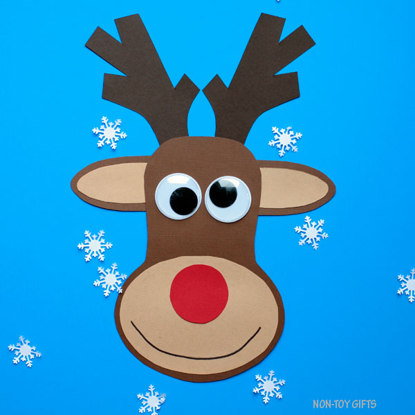 photo about Pin the Nose on the Reindeer Printable known as Paper Reindeer Craft With Printable Template - Xmas Craft
