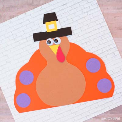 Pilgrim turkey craft for Thanksgiving