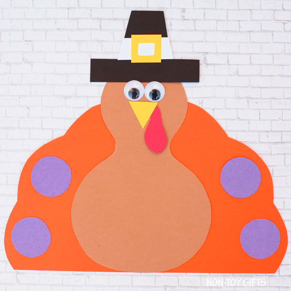 Easy paper Pilgrim turkey craft