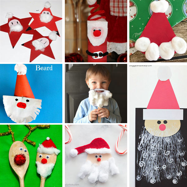 Santa crafts for toddlers and preschoolers
