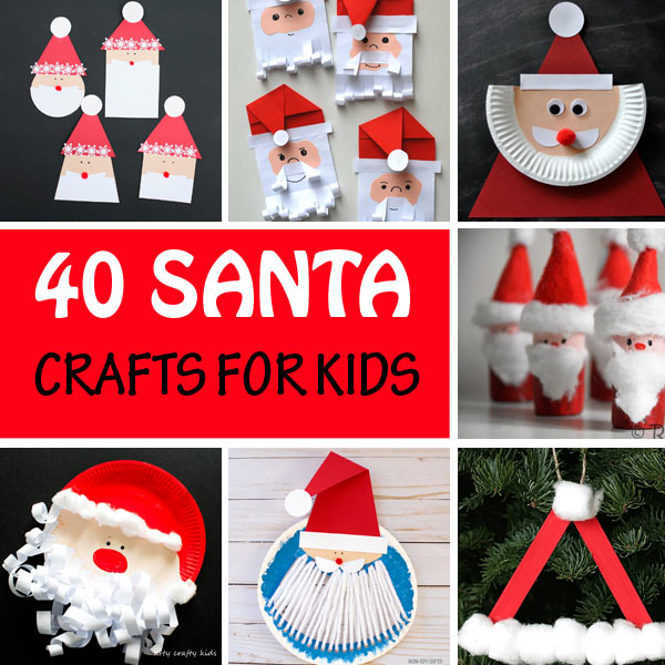 Santa crafts for kids - Christmas crafts for kids