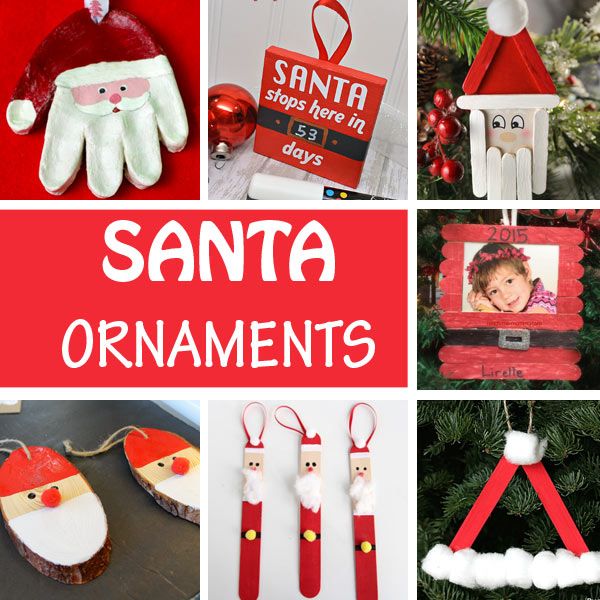 Santa crafts for kids: Santa ornaments
