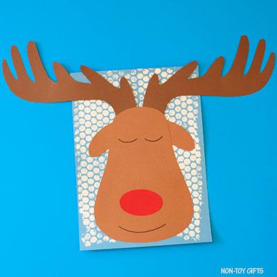Sleeping reindeer craft