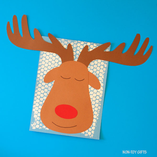 Sleeping reindeer craft - Christmas craft for kids