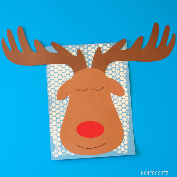 Sleeping reindeer craft for Christmas