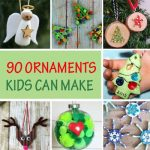 90 Christmas ornaments kids can make