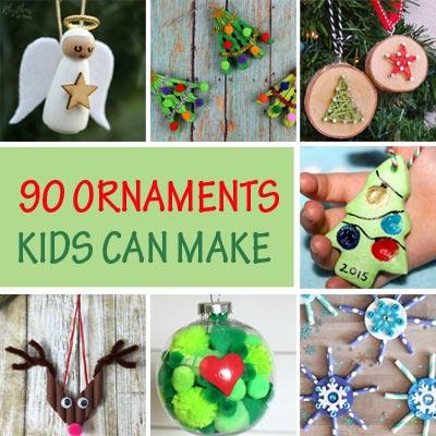 90 Christmas ornaments kids can make