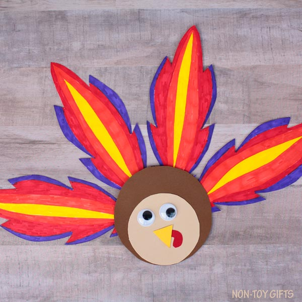 Colored turkey craft
