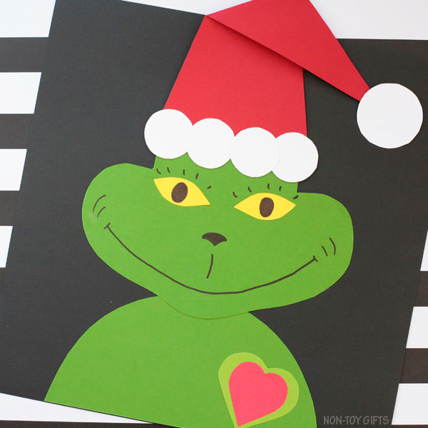 paper Grinch craft