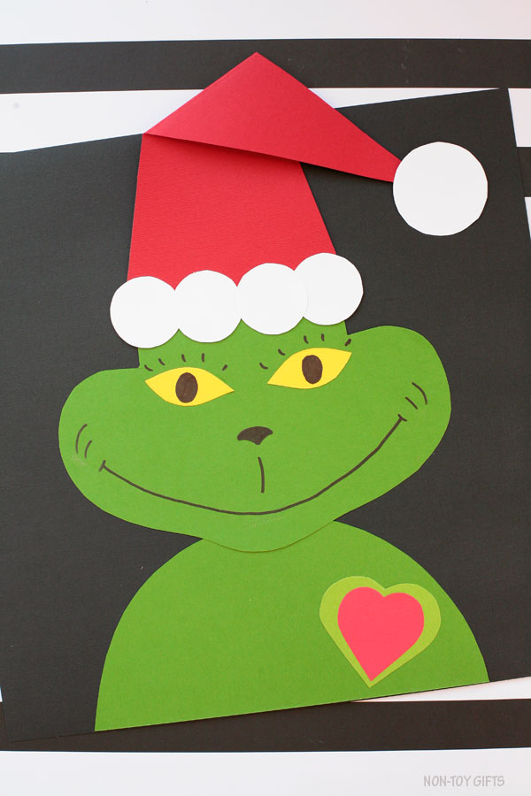 Grinch's heart craft for kids