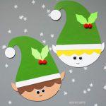 Paper elf craft for kids