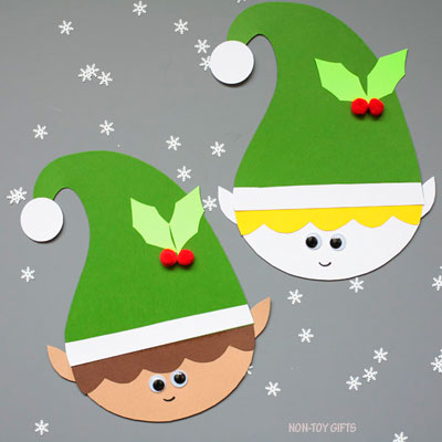 Paper elf craft for kids