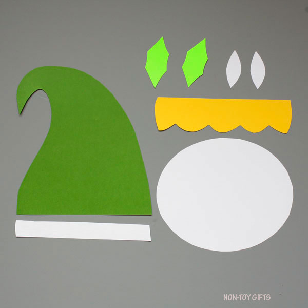 paper elf craft for kids easy christmas craft with template