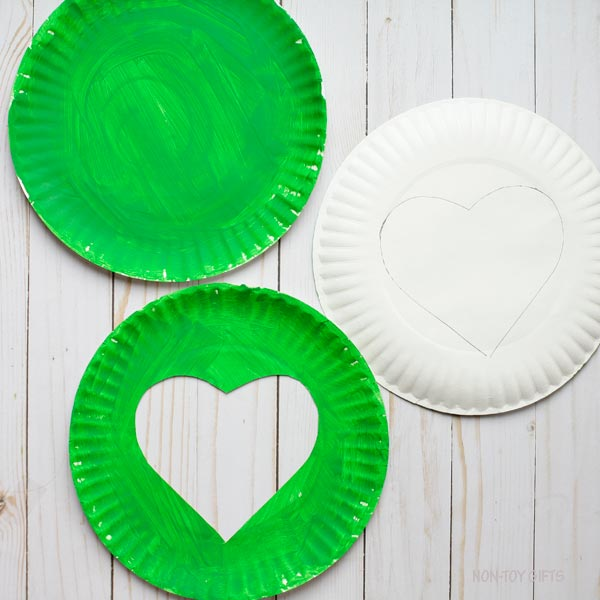 Heart on paper plate