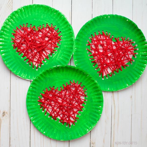 Grinch heart craft