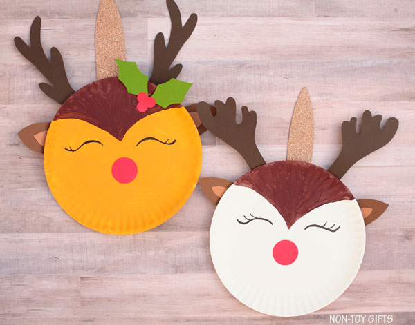 Reindeer unicorn craft for kids