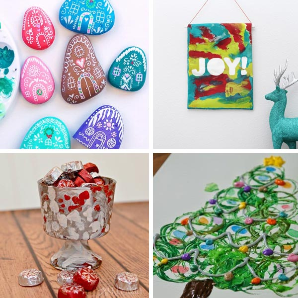 Christmas art gifts kids can make