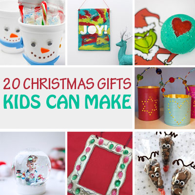 20 Christmas gifts kids can make