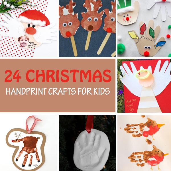 Christmas handprint crafts for kids collage