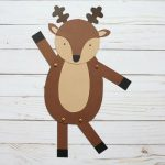 Dancing reindeer craft for kids