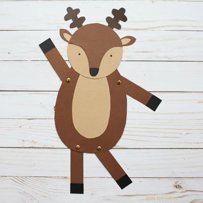 Dancing reindeer craft for kids
