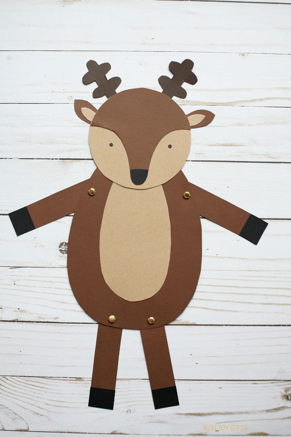 Easy paper reindeer craft for kids
