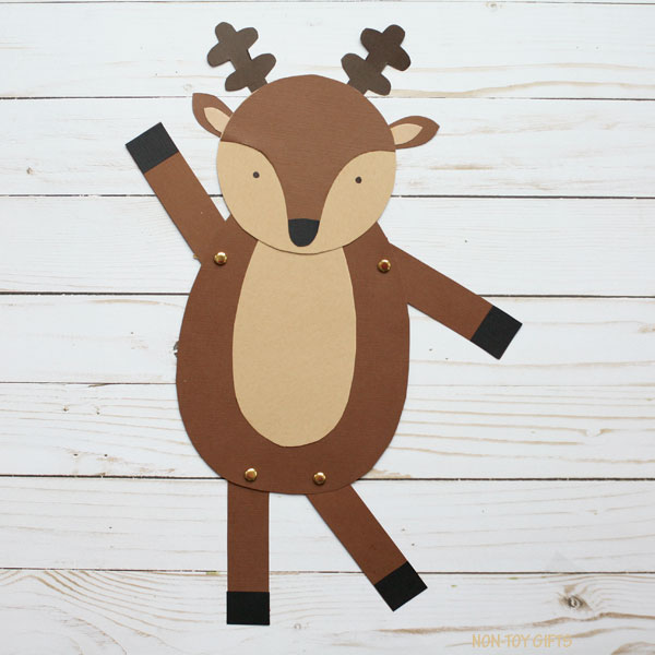 Dancing reindeer craft for kids to make this Christmas