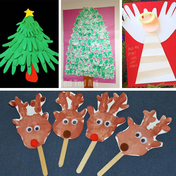Handprint Christmas crafts for kids 1